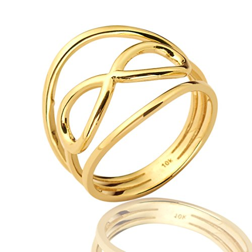 Mr. Bling 10K Yellow Gold Infinity Geometric Design Ring, Available in Sizes 5-9 (8)