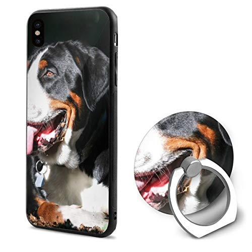 Great Swiss Mountain Dog Dog Muzzle IphoneX case with Ring Stand Soft TPU Slim Case Cover for iPhone X