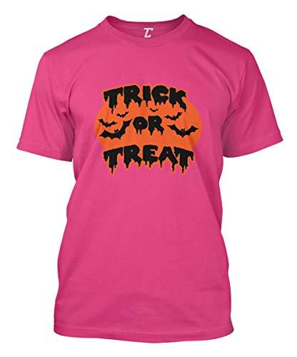 Trick Or Treat - Halloween Bats Men's T-Shirt (Pink, X-Large)