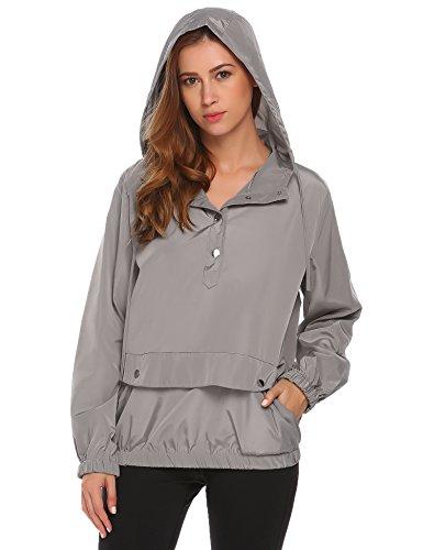 SummerRio Women's Long Sleeve Hoodies Pullover Button Patchwork Sweatshirt Jacket by SummerRio (Image #2)