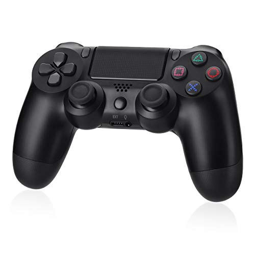 Powerextra Replacement P4 Game Controller compatible for P4/P4 Pro/PC/Phone/Ipad,Black P4 Bluetooth Game Controller