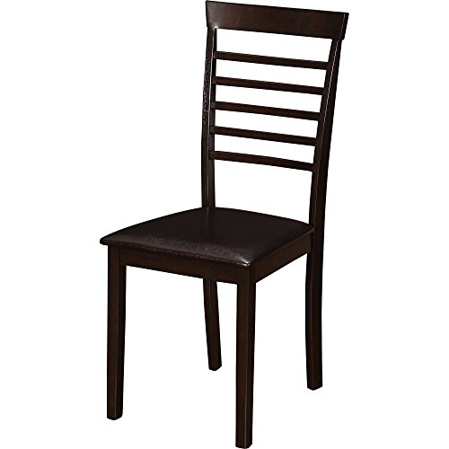 Dining Set Of 5 Pieces With Rectangular Table And 4 Chairs With Ladder Back In Brown Manufactured Wood plus FREE GIFT
