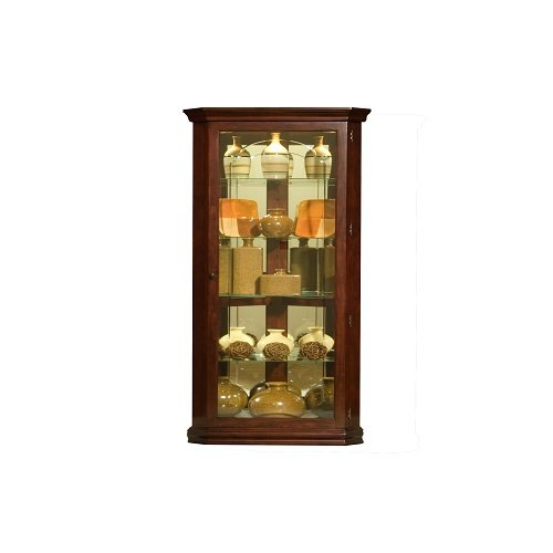 Pulaski Cherry Table - Pulaski Corner Curio, 28 by 16 by 72-Inch, Brown