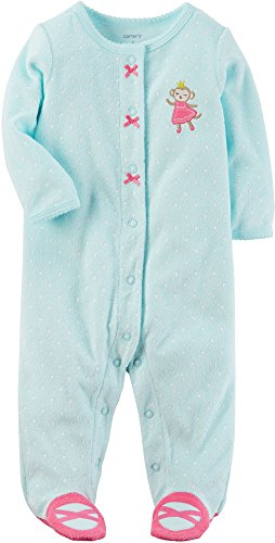 - Carter's Baby Girls' One Piece Princess Monkey Sleep & Play 3 Months