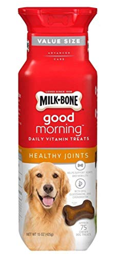 Milk-Bone Good Morning Healthy Joints Daily Vitamin Dog Treats, 15 oz., Pack of 2 ()