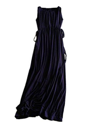 Gravidanza Estive Abito Vestito Maniche Maternità Morbidi Donna Senza Allacciatura Casual Colore Puro Dress Comoda Unico Blu Moda Aivosen YnRHOY