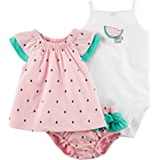 Carter's Baby Girls' 3 Piece Watermelon Bodysuit and Diaper Cover Set 3 Months