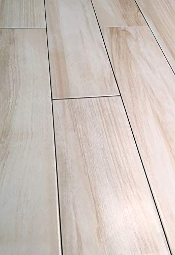 6x24 Marina White Maple Porcelain Plank Wood Field Tile Floor (Sold by Piece)