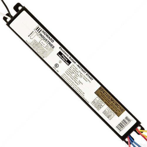 Howard EP4/32IS/MV/MC/HE - 4 Lamp Fluorescent Ballast - F32T8 - 120/277 Volt - Instant Start - 0.88 Ballast Factor by Warehouse Lighting