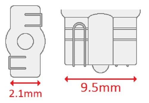 12 V CEC Industries #2825 Bulbs T-3.25 shape 4.8 W Box of 10 W2.1x9.5d Base