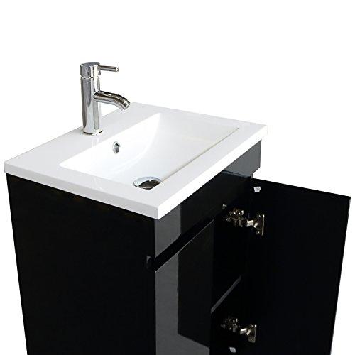 Bathjoy 20 inch black single wood bathroom vanity cabinet - 20 inch bathroom vanity and sink ...