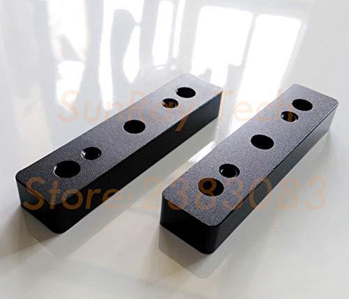 - Ochoos Spacer Block Aluminium CNC Machining Black Anodized 2pcs