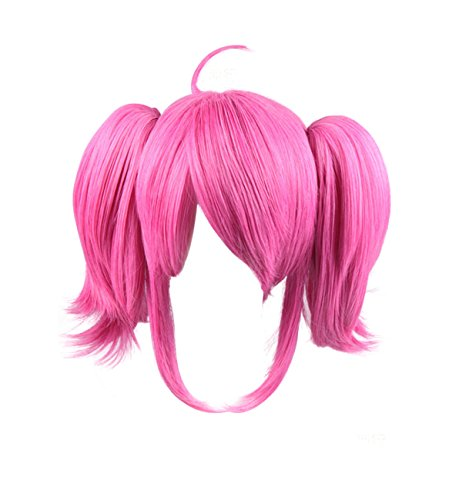 DAZCOS Luminosity Lady Star Guardian Lux Cosplay Wig with Ponytails Pink -