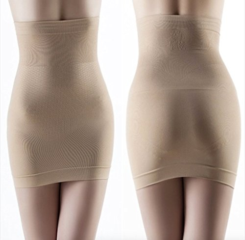 Slimming Body Shapers Seamless Corset Hip Waist Trainer Cincher Shapewear Skirt (Beige) (Cherry Darling Halloween Costume)