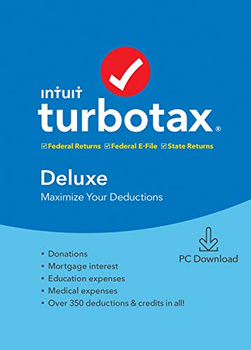 TurboTax Tax Software Deluxe + State 2019 [Amazon Exclusive] [PC Download]