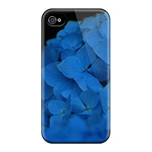 Excellent Iphone 6 Cases Covers Back Skin Protector Night Time Blue Flowers