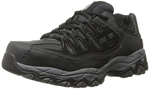 Skechers For Arbeids Menns Cankton-u Industriell Sko, Sort, 14 2e Oss