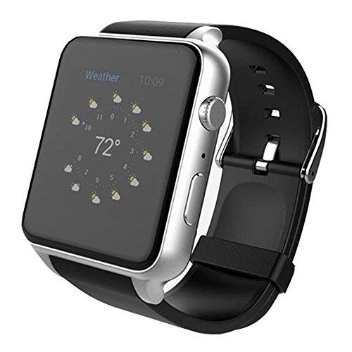 Montre Connectées STOGA nouveau Support SIM carte puce Bluetooth montre GSM téléphone montre-bracelet baignez indépendant Smartphone pour Android et IOS - Argent