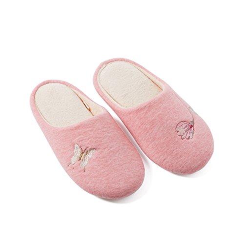 À Pantoufles Broderie Tricotées Dww La dérapant Coton chaussons B De Chaude Tpr Maison Chaussures Eva Doux Anti Hiver qA5gwtxg