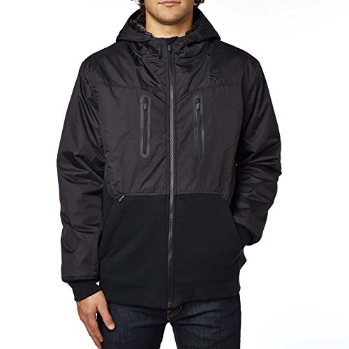Fox Racing Mens Barge Sasquatch Fleece Hoody Zip Sweatshirt Medium Black