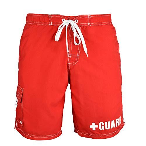 BLARIX Mens Lifeguard Board Shorts Swim Trunks Swimsuit (Medium, - Trunks Lifeguard Swim