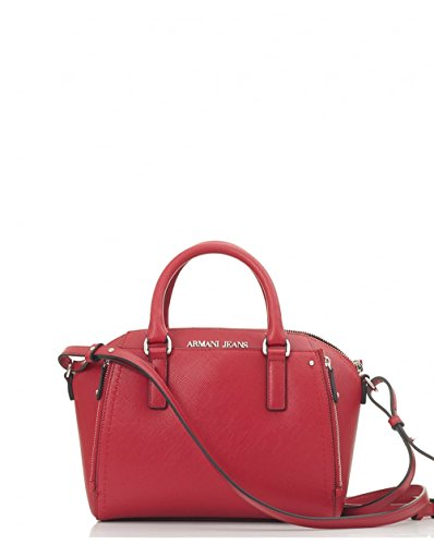 Armani Jeans Top Handle bag woman Pvc Plastic Persian Red