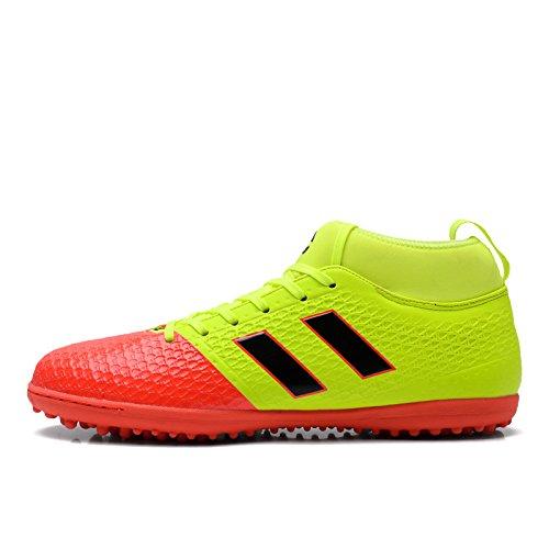 Xing Lin Zapatos De Fútbol Alto Zapatos De Fútbol Ayuda Hombres Tf Roto Las Uñas Del Pie Inferior Grande De Césped Artificial De Capacitación De Hombres De Zapatos Zapatos Zapatos Deportivos Profesion yellow