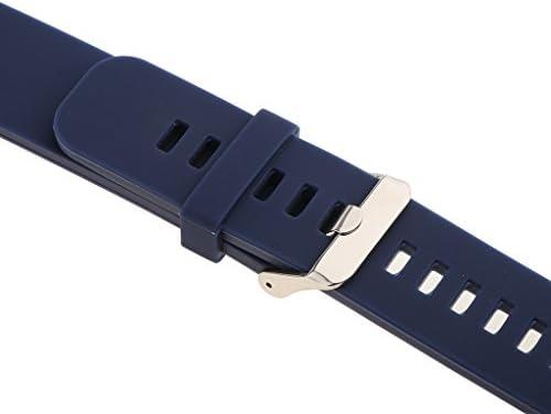 シリコン 腕時計バンド スポーツ 低アレルギー性 防水 ウォッチバンド 交換性 多種類選べ - ブラック 18mm