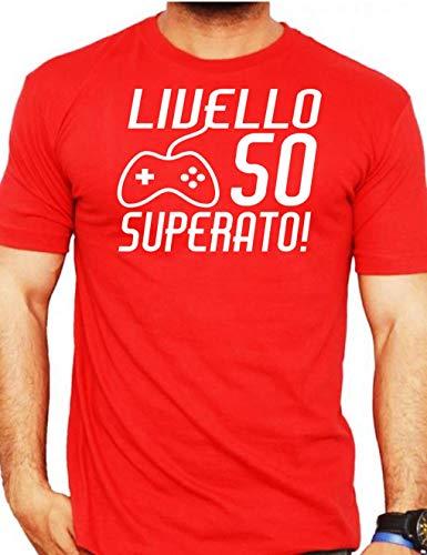 Wixsoo Maglietta Livello shirt Anni 50 Compleanno T Superato Uomo Rosso xBrCoedW