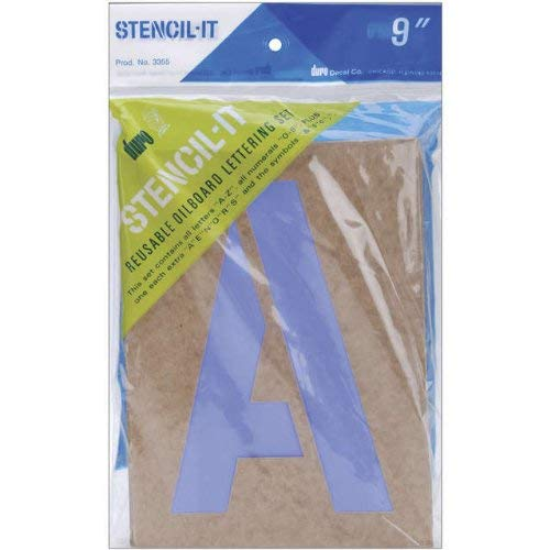 Duro Stencil-It Oil Board Stencil Set 9-Inch (Japanese Letters A To Z With English)