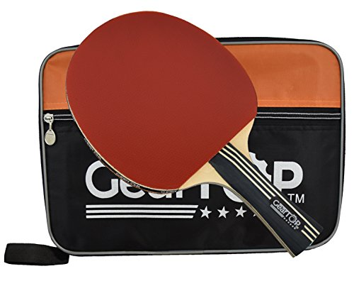 Wii Blue Sleeves (Ping Pong Paddle, 6 Star Table Tennis Racket with Carry Case, GearTOP Premium Bundle)