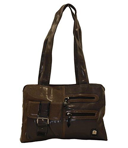 Kunstleder Damentasche Handtasche Taschen Shopper Bag Handtaschen Braun 3810
