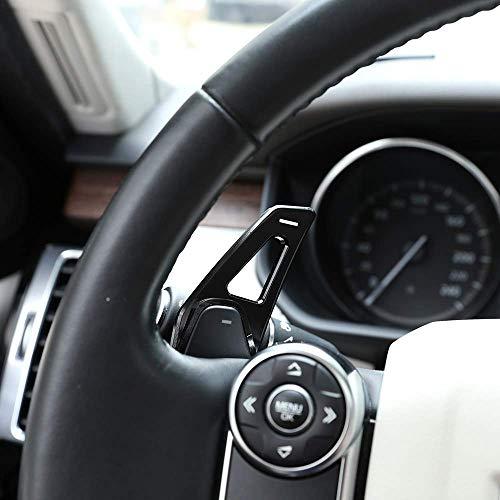 Aluminum Alloy Steering Wheel Gear Shift Paddles Car Accessory for Landrover Range Rover Discovery Sport LR 4 5 Evoque Vogue Velar Black ()