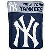 """Northwest The Company Officially Licensed MLB NY Yankees Fleece Throw Blanket, 40"""" x 50"""""""