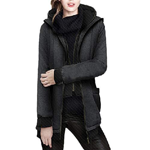 Luckycat Coat Abrigo Capa Capucha Sportswear Demin Gris Jacket Doble Larga Chamarra Manga Mujeres Tops Blazers Outwear rTrpw