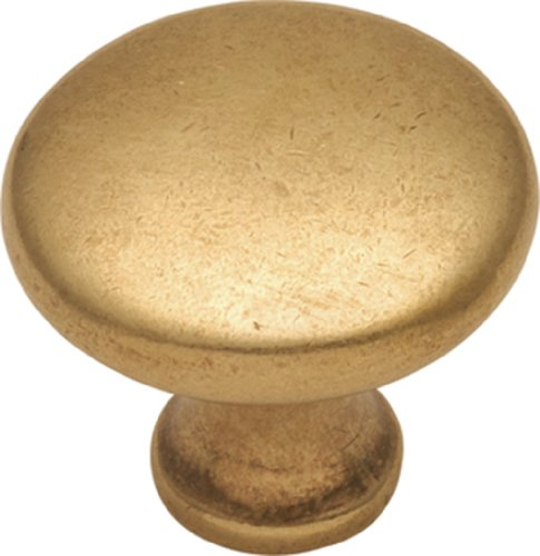 Hickory Hardware P14255-LB 1-1/8-Inch Conquest Cabinet Knob, Lustre Brass - Hickory Brass Knobs