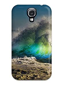 Durable Defender Case For Galaxy S4 Tpu Cover(wave)