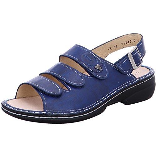 Finn Womens Saloniki Comfort 2557 Sandals Leather Bleu qqTf5rRx6w