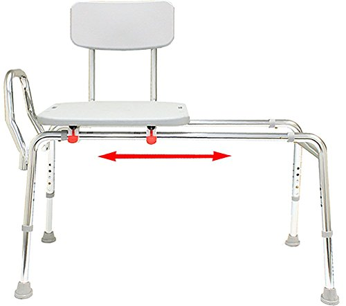 Sliding Bath Transfer Bench (77211) - Regular (Base Length: 39'' - 40'') - Heavy-Duty Shower Bathtub Chair - Eagle Health Supplies by Eagle Health Supplies