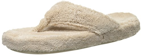 ACORN Women's Spa Thong, Taupe, Large / 8-9