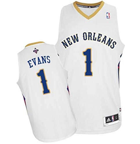 (adidas Tyreke Evans New Orleans Pelicans Revolution 30 Stitched Swingman Jersey - Large White)
