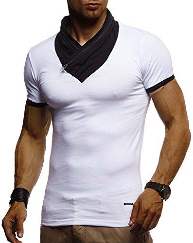 Sweatshirt Hommes T Slim Weiss Ln665 Nelson Pour Des Leif shirt Fit Y4fapcq