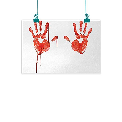 Unpremoon Horror,Modern Wall Art Handprint Like Wanting Help