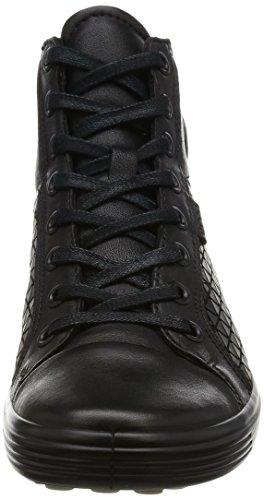 ECCO Soft 7 Ladies, Sneaker a Collo Alto Donna nero