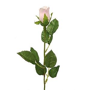 "20"" Single Veined MP Rose Bud Artificial Silk Wedding Craft DIY Flowers Home Decor (Dozen) 38"