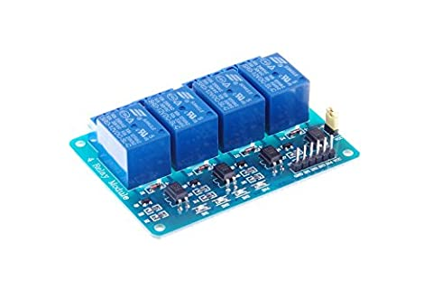 KNACRO 4 Channel DC 12V Relay Module with Optocoupler for Arduino UNO R3 MEGA 2560 1280 DSP ARM PIC AVR STM32 Raspberry - Four Channel Module