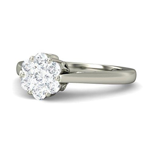 18K Or Blanc, 0,28carat Diamant Taille ronde (IJ | SI) en diamant