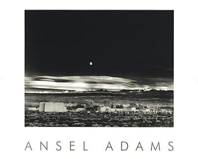 Moonrise, Hernandez by Ansel Adams Art Print  (Overall Size: 30x24) (Image Size: 22.5x17.75) (Ansel Canvas Adams)