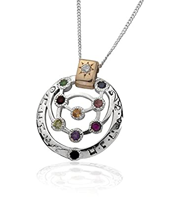 HaAri Kabbalah Ten Sephiroth with Precious Gems Pendant Represent Divine Channels from HaAri Kabbalah Jewelry