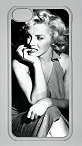 Marilyn Monroe007 Iphone 5C Transparent Sides Hard Shell PC Case by eeMuse